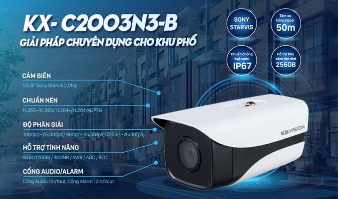 Những tính năng nổi bật của Camera KX-C2003N3-B