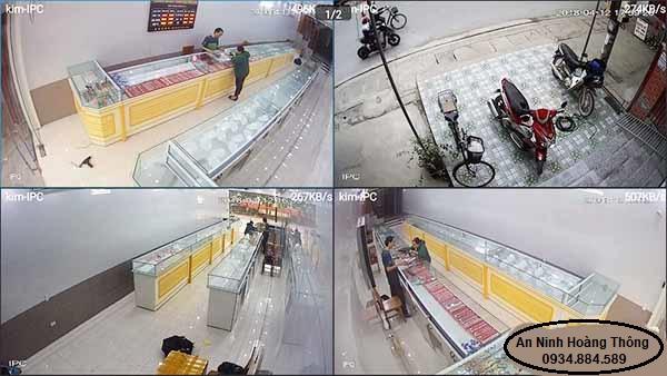 Hình ảnh Camera quan sát tiệm vàng